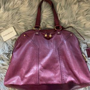 YSL burgundy bag LARGE